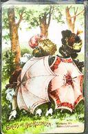 CPA  Illustration  Femmes Cachées Derrière Leur Parapluie Umbrella - Marriages