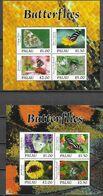 PALAU, 2020, MNH, INSECTS, BUTTERFLIES, 2 SHEETLETS, HIGH FV - Butterflies