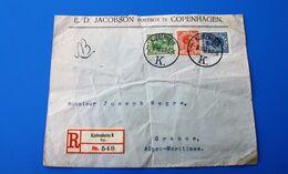 Marcophilia Registreret Brev Fra København Danmark 1964 Letter & Document Europe-☛Grasse Fr.entete Jakobson Copenahagen - Lettere