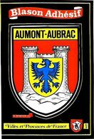 "AUMONT-AUBRAC Wappen Postkarte (Aufkleber) Fa. Kroma ""Blason Adhésif"" - Autocollant - Aumont Aubrac"