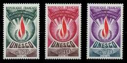 FRANKREICH DIENSTMARKEN FÜR DIE UNESCO Nr 9-11 X071A2E - Nuevos