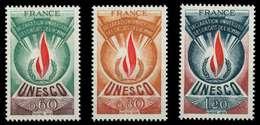 FRANKREICH DIENSTMARKEN FÜR DIE UNESCO Nr 13-15 X071A3A - Nuevos