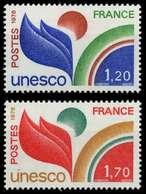 FRANKREICH DIENSTMARKEN FÜR DIE UNESCO Nr 19-20 X075AAE - Nuevos