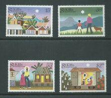Saint Kitts 1983 Xmas Set 4 MNH - St.Kitts And Nevis ( 1983-...)