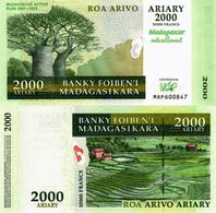 Madagascar, 2000 Ariary, 2007, P93, Commemorative Banknote, UNC - Madagascar