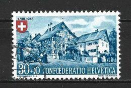 1945 SWITZERLAND 30+10 C. PRO PATRIA MICHEL: 463 USED - Gebraucht
