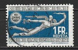 1932 SWITZERLAND 1 FR. DISARMAMENT CONFERENCE MICHEL: 255 USED - Gebraucht