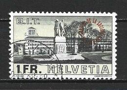 1938 SWITZERLAND 1 FR. BUREAU INTERNATIONAL DU TRAVAlL OVERPRINT MICHEL: 56 USED - Dienstpost