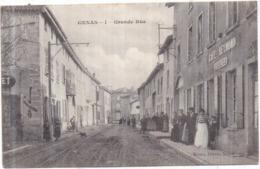 Dépt 69 - GENAS - Grande Rue - Animée, Café REYMOND, BRESSAT Successeur - 1906 - Otros Municipios