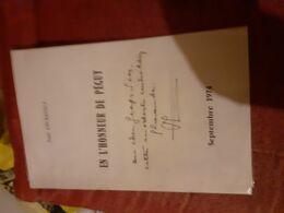 Plaquette 8 Pages Eeckhout   En L'honneur De Peguy Belle Dedicace - Books, Magazines, Comics