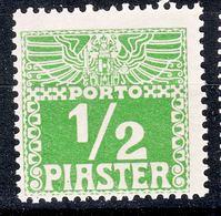 Austria Levant Porto 1908 Mi#7 X, Mint Hinged - Unused Stamps