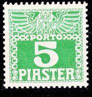 Austria Levant Porto 1908 Mi#11 Y, Mint Hinged - Unused Stamps