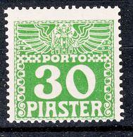 Austria Levant Porto 1908 Mi#14 X, Mint Never Hinged - Unused Stamps