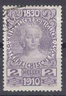 Austria 1910 Jubilee Mi#162 Used - Gebraucht