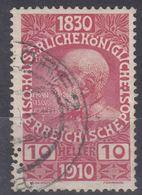 Austria 1910 Jubilee Mi#166 Used - Gebraucht