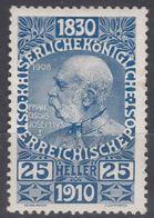 Austria 1910 Jubilee Mi#169 Mint Hinged - Unused Stamps