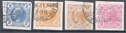 Austria 1899 Zeitungs Newspaper Stamps Mi#97-100 Used - Gebraucht