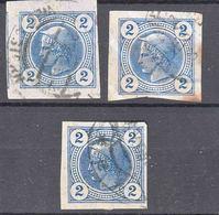 Austria 1899 Zeitungs Newspaper Stamps Mi#97 Used 3 Pieces - Usados