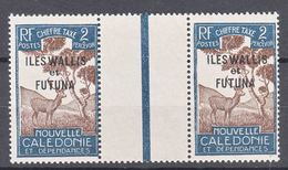 Wallis And Futuna Timbre Taxe 1930 Yvert#11 Mint Hinged Gutter Pair - Unused Stamps