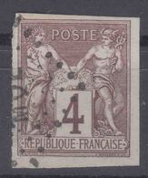 Colonies General Issues 1878 Yvert#39 Used, MQE Cancel (Martinique) - Sage