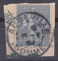 France 1903 Sower Yvert#132 Used, Nice Cancel - 1903-60 Sower - Ligned