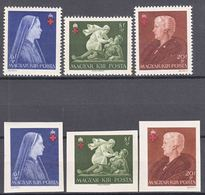 Hungary 1942 Red Cross Mi#696-698 A And B, Mint Never Hinged - Unused Stamps