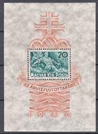 Hungary 1940 Mi#Block 7 Mint Never Hinged - Neufs