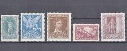 Hungary 1923 Mi#369-373 Mint Never Hinged - Neufs