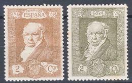 Spain 1930 Goya Mi#464,468 Mint Hinged - Neufs