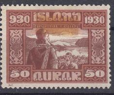 Iceland Island Ijsland 1930 Mi#135 Mint Hinged - 1918-1944 Autonomous Administration