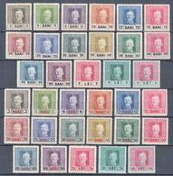Austria Occupation Of Romania 1917/1918 Mi#1-17, Mi#18-34 Two Complete Sets, Mint Hinged - Unused Stamps