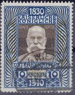 Austria 1910 Big Jubilee 1910, Key Stamp Mi#177 Used - Usados