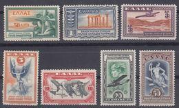 Greece Airmail 1933 Mi#355-361 Mint Hinged - Nuevos