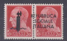 Italy Social Republic 1944 Saggi Sassone#P5 Mint Hinged, Expert Mark - Mint/hinged