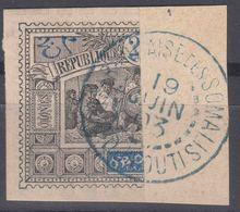 Obock 1894 Yvert#54a Used Bisect On Fragment - Oblitérés