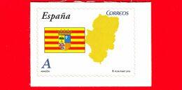 Nuovo - MNH - SPAGNA - 2010 - Comunità Autonome - Aragon - Bandiera - Mappa - A - 2001-10 Neufs