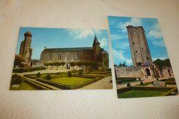 LOT DE 2 CARTES ....LA TOUR VIRONNE...MUSEE DE LA PREHISTOIRE - Le Grand-Pressigny