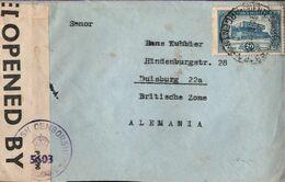 ! 1947 Brief  Aus  Argentinien Nach Duisburg, Zensur, Censor, Censure - Argentina