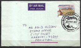 USED AIR MAIL COVER INDIA TO PAKISTAN DONKEY - Other