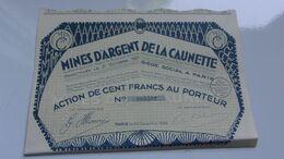 MINES D'ARGENT DE LA CAUNETTE (100 Francs) - Actions & Titres