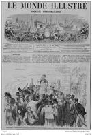 Angleterre - Effet Produit à Londres Par La Nouvelle De La Mort Du Président Lincoln - Page Original 1865 - Historische Documenten