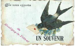 Elle Vous Apporte Un Souvenir De MONTIGNY-LE-TILLEUL - Cachet De La Poste 1907 - Montigny-le-Tilleul