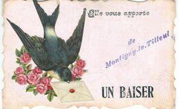 Elle Vous Apporte Un Baiser De MONTIGNY-LE-TILLEUL - Cachet De La Poste 1907 - Montigny-le-Tilleul