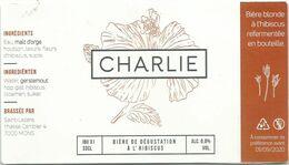 étiquette Décollée Bière Charlie Brasserie Saint Lazare Mons - Beer