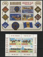 Barbados (09) 7 Miniature Sheets 1969-91. Mint . Hinged. - Barbados (1966-...)