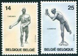 12191006 BE 19910316; Sculptures, C Meunier, J Lambeaux; Cob2400-01 - Unused Stamps