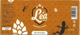 étiquette Décollée Bière Léo Blonde Brasserie De La Hantes Beaumont - Beer
