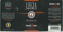 étiquette Décollée Bière Legia Saison Ite Missa Est Brasserie Brasse & Vous Liège - Beer