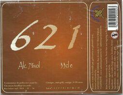 étiquette Décollée Bière 621 Authentique Brasserie Blaton - Beer