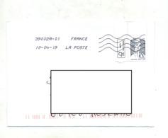 Lttre Flamme Chiffrée  Sous Code Sur Ciappa Tabs - Mechanical Postmarks (Advertisement)
